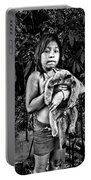 Girl With Oso Dormilon Portable Battery Charger