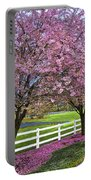In The Pink Portable Battery Charger by Debra and Dave Vanderlaan