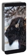 In The Presence Of  Bison - 6 Portable Battery Charger