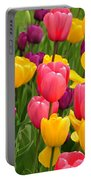 In The Tulip Garden Portable Battery Charger