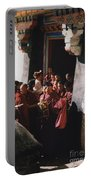 In Tibet Tibetan Monks 5 By Jrr Portable Battery Charger
