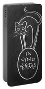 In Vino Veritas Cat Portable Battery Charger
