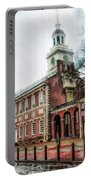 Independence Hall From Chestnut Street Portable Battery Charger