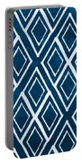 Indgo And White Diamonds Large Portable Battery Charger