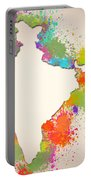 India Watercolor Map Painting Portable Battery Charger