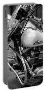 Indian Motorcycle In French Quarter-bw Portable Battery Charger