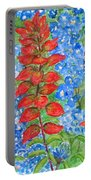 Indian Paintbrush And Bluebonnets Portable Battery Charger
