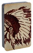 Indian Wise Chief Coffee Painting Portable Battery Charger