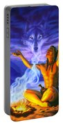 Indian Wolf Spirit Portable Battery Charger