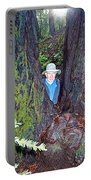 Indiana Jones In Armstrong Redwoods State Preserve Near Guerneville-ca Portable Battery Charger