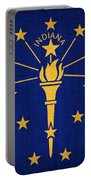 Indiana State Flag Portable Battery Charger by Pixel Chimp