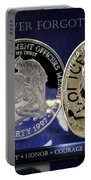 Indianapolis Metro Police Memorial Portable Battery Charger by Gary Yost