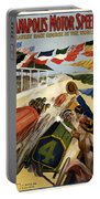 Indianapolis Motor Speedway - Vintage Lithograph Portable Battery Charger