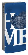 Indianapolis Street Map Home Heart - Indianapolis Indiana Road M Portable Battery Charger