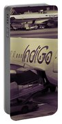 Indigo Aircraft Getting Ready In Changi Airport Portable Battery Charger