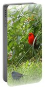 Indigo Bunting And Scarlet Tanager 2 Portable Battery Charger