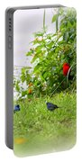 Indigo Bunting And Scarlet Tanager Portable Battery Charger