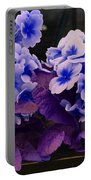 Indigo Flowers Portable Battery Charger