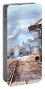 Industrial Railroad Scene  Portable Battery Charger