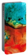 Infinite Color - Abstract Art By Sharon Cummings Portable Battery Charger by Sharon Cummings