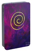 Infinity - Deep Purple With Gold Portable Battery Charger