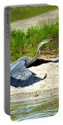 Inflight Great Blue Heron Portable Battery Charger