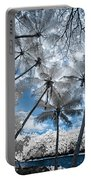 Infrared Palm Trees On The Coast Portable Battery Charger