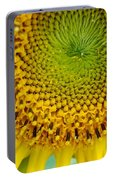 Inner Peace Forms Within This Sweet Yellow Sunflower Portable Battery Charger
