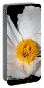 Innocent Krinkle - White Peony By Diana Sainz Portable Battery Charger