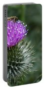 Insect On A Thistle Portable Battery Charger