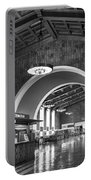 Inside Los Angeles Union Station In Black And White Portable Battery Charger