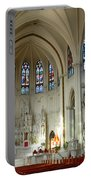 Inside The Cathedral Basilica Of The Immaculate Conception 1 Portable Battery Charger