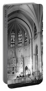 Inside The Cathedral Basilica Of The Immaculate Conception 1 Bw Portable Battery Charger
