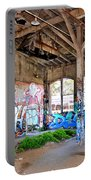 Inside The Old Train Roundhouse At Bayshore Near San Francisco And The Cow Palace II Portable Battery Charger