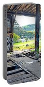 Inside The Old Train Roundhouse At Bayshore Near San Francisco And The Cow Palace Iv Portable Battery Charger