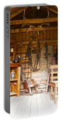Inside The Real Sam Mcgee's Cabin In Macbride Museum In Whitehorse-yk Portable Battery Charger