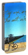 Inspirational Beach - Stop And Smell The Salt Air Portable Battery Charger