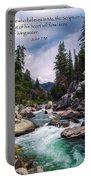 Inspirational Bible Scripture Emerald Flowing River Fine Art Original Photography Portable Battery Charger
