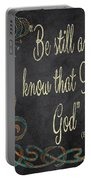 Inspirational Chalkboard-b Portable Battery Charger