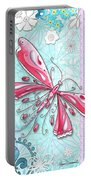 Inspirational Dragonfly Floral Fleur De Lis Art Sweet Charity By Megan Duncanson Portable Battery Charger