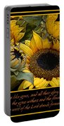 Inspirational Sunflowers Portable Battery Charger