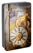 Inspirational - Time - A Look Back In Time - Da Vinci Portable Battery Charger