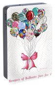 Inspirational Uplifting Floral Balloon Art A Bouquet Of Balloons Just For You By Megan Duncanson Portable Battery Charger
