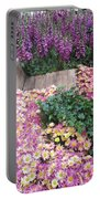 Interior Decorations Butterfly Gardens Vegas Golden Yellow Purple Flowers Portable Battery Charger
