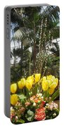Interior Decorations Butterfly Gardens Vegas Golden Yellow Tulip Flowers Portable Battery Charger