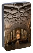 Interior Of Jeronimos Monastery Church In Lisbon Portable Battery Charger