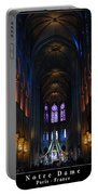 Interior Of Notre Dame De Paris Portable Battery Charger
