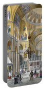 Interior Of San Marco Basilica, Looking Portable Battery Charger by Italian School