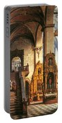 Interior Of The Dominican Church In Krakow Portable Battery Charger