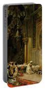 Interior Of The Mosque At Cordoba Portable Battery Charger by Edwin Lord Weeks